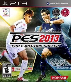 Capa brasileira de 'Pro Evolution Soccer 2013' com Neymar e Cristiano Ronaldo (Foto: Divulgação)