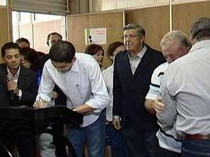Três novos secretários ocupam cargos na Prefeitura de Araxá, MG (Foto: Reprodução/TV Integração)