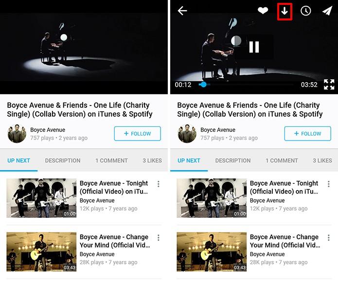 Vimeo para Android ganhou reprodução de vídeos offline em atualização (Foto: Reprodução/Elson de Souza)