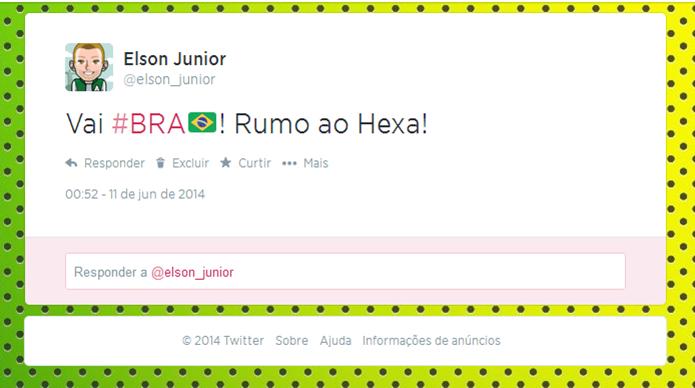 Twitter aposta na volta das Hashflags e em mais novidades para a Copa do Mundo (Foto: Reprodução/Elson de Souza)