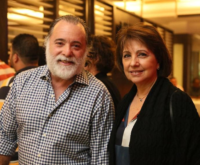 Tony Ramos e a mulher, Karen Brusttolin, prestigiam a estreia da novela (Foto: Isabella Pinheiro/Gshow)