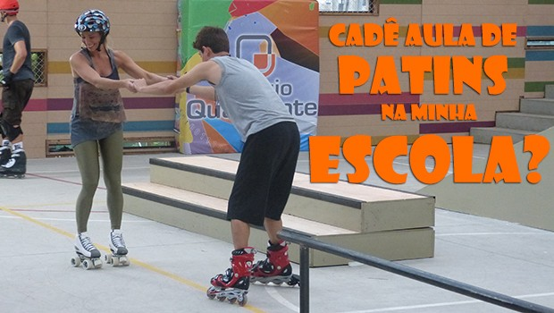 Marcela ensinando a andar de patins! Awn! (Foto: Malhação / TV Globo)