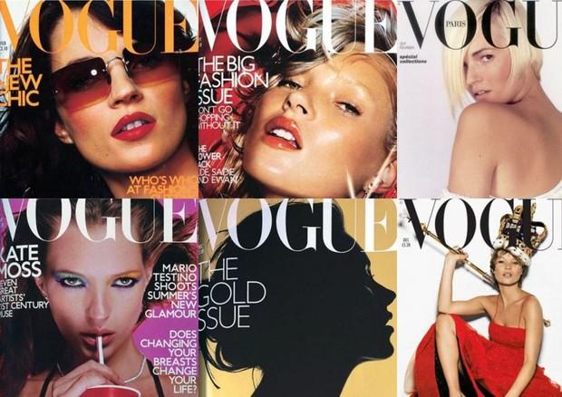 1- Vogue Londres Fevereiro 2000 / 2- Vogue Londres Março 2000 / 3- Vogue Paris Fevereiro 2001 / 4- Vogue Londres Dezembro 2000 / 5-Vogue Londres Setembro 2000 / 6- Vogue Londres Dezembro 2001 (Foto: reprodução)