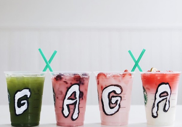 Lady Gaga X Starbucks (Foto: Reprodução Instagram)