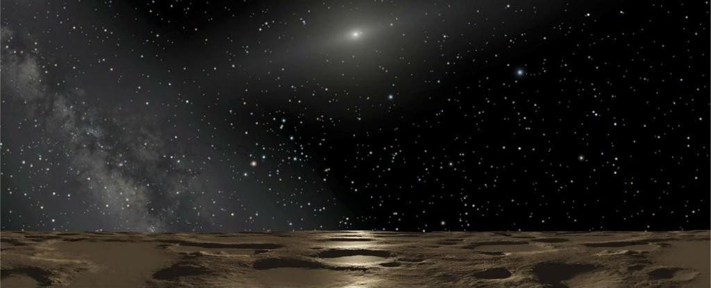 Ilustração da perspectiva do planeta anão Sedna (Foto: Reprodução)