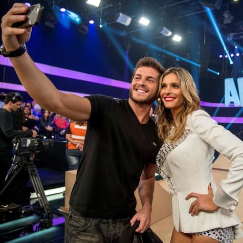 Klebber Toledo e Fernanda Lima (Foto: Ellen Soares/ TV Globo)