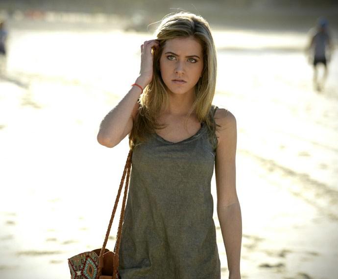 Hanna Romanazzi volta para a trama. O que será que Cecília vai aprontar? (Foto: Raphael Dias/Gshow)