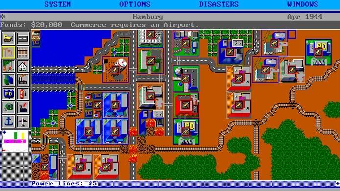 O primeiro SimCity foi lançado pela Maxis em 1989 (Foto: Divulgação)