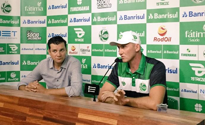 Gilmar Dal Pozzo é apresentado no Alfredo Jaconi como novo técnico do Juventude (Foto: Divulgação / Juventude)