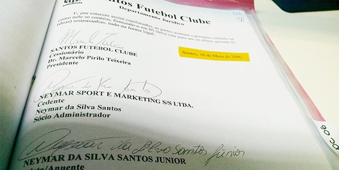 Documento-2---Neymar (Foto: infoesporte)