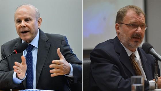O ex-ministro da Fazenda Guido Mantega e o ex-secretário do Tesouro Arno Augustin (Foto: ABr)