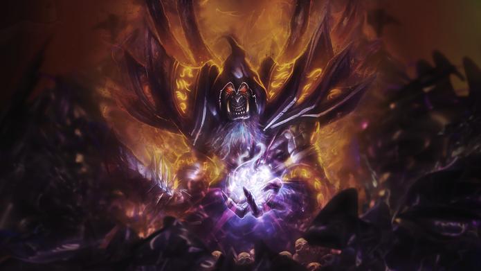 O feiticeiro GulDan também está no filme de Warcraft (Foto: Divulgação/Blizzard)