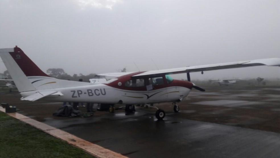 Operação na segunda-feira (29) foi para desarticular estrutura aérea do PCC no Paraguai, segundo Secretaria Nacional Antidrogas (Senad). (Foto: Senad/ Divulgação)