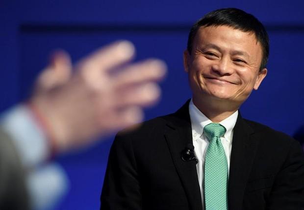 Jack Ma em Davos (Foto: EFE/LAURENT GILLIERON)