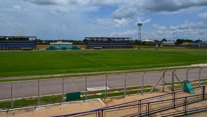 Estádio Portal da Amazônia, em Vilhena (RO) (Foto: Flávio Godoi/GLOBOESPORTE.COM)