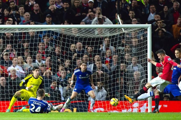 Robin Van Persie, Manchester United x Chelsea (Foto: AP)