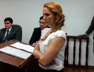 Luciana Lopes Advogada Carlos Alberto julgamento (Foto: Gustavo Rotstein)