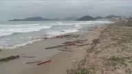 Ressaca causa prejuízos nas praias do Litoral Norte