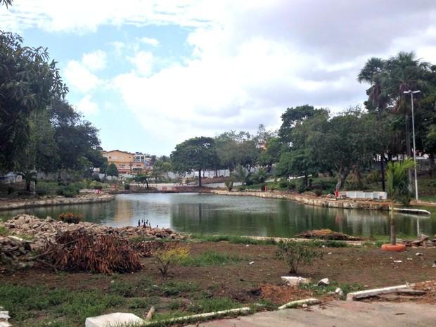 Praça Floriano Peixoto, em Macapá, passa por reformas (Foto: Abinoan Santiago/G1)