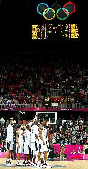 Estados Unidos vence a Nigéria no basquete em Londres  (Foto: Getty Images)
