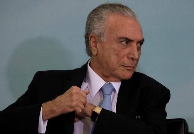 O presidente brasileiro Michel Temer durante evento no Palácio do Planalto, em Brasília  (Foto: Ueslei Marcelino/Reuters)