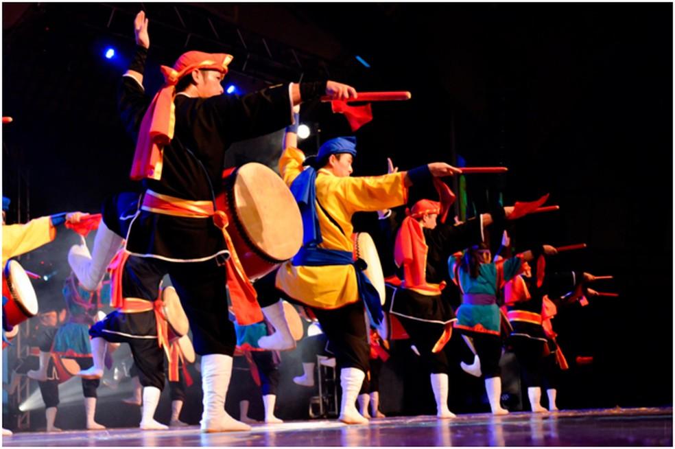 Apresentação do Grupo de dança Odori.  (Foto: Metrô-DF/Divulgação)