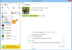Skype mostra lista de contatos do Messenger. (Foto: Divulgação/Skype)