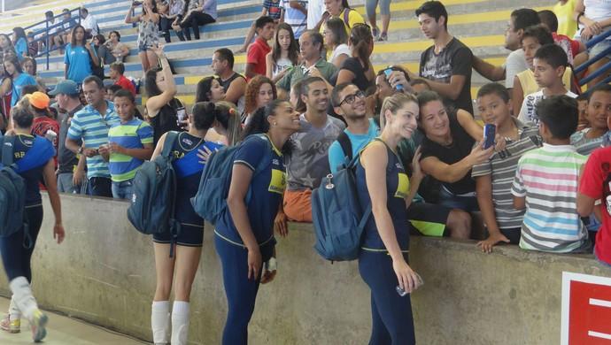 Jogadoras da seleção brasileira feminina de vôlei (Foto: Leonardo Freire/GloboEsporte.com)