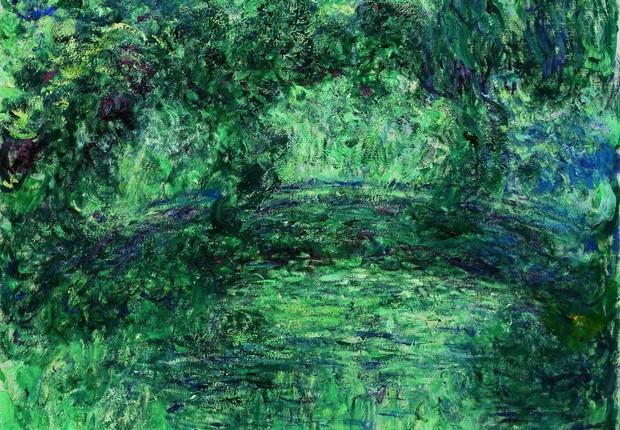"""""""A Ponte Japonesa sobre a Lagoas das Ninfeias em Giverny"""", pintura de Claude Monet que integra a exposição """"O Triunfo do Detalhe"""" no MASP (Foto: Divulgação)"""