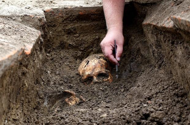 Esqueletos foram descobertos aos pés de uma grande usina de energia movida a carvão (Foto: Djordje Kojadinovic/Reuters)