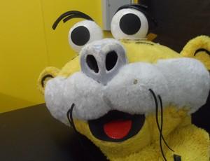 Fantasia mascote Tigrelino Criciúma (Foto: João Lucas Cardoso)