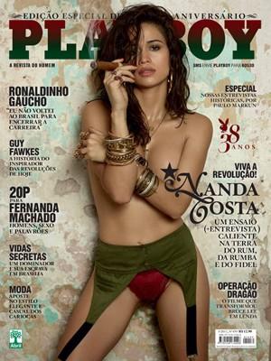 Capa da 'Playboy' com Nanda Costa (Foto: Divulgação)