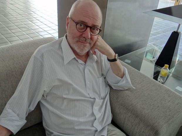 Escritor gaúcho João Gilberto Noll diz que Nelson Rodrigues é uma inspiração (Foto: Katherine Coutinho/G1 PE)
