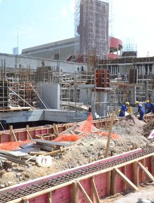 Obras da Arena da Baixada - mês de novembro (Foto: Divulgação/Site oficial do Atlético-PR)