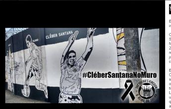 Santistas fazem campanha por Cleber Santana no muro; clube pode aceitar
