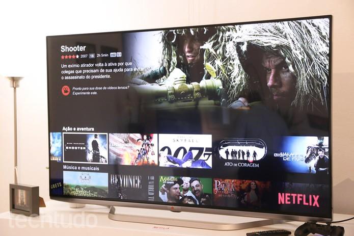 Conteúdo do Netflix ganha mais destaque, imagens relevantes e menos passos  (Foto: Fabrício Vitorino/TechTudo)