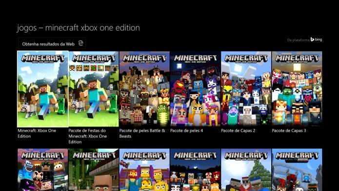Busque e selecione o Minecraft na lista (Foto: Reprodução/Murilo Molina)