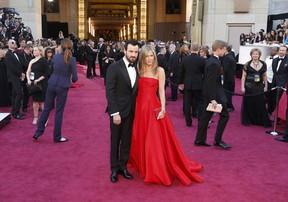 Jennifer Aniston e Justin Theroux no Oscar (Foto: Reuters / Agência)