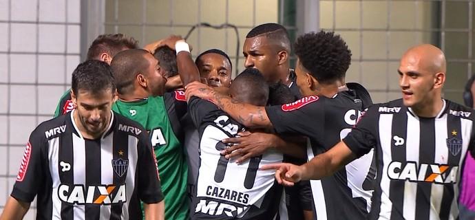 Gol Atlético-MG; Lucas Pratto (Foto: Reprodução/TV Globo)