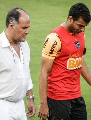 Michel, Marcus Vinícius, Atlético-MG, Cidade do Galo (Foto: Bruno Cantini / Site Oficial do Atlético-MG)
