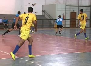 Copa Gospel de Futsal no ginásio do Sesc-Bosque, em Rio Branco (Foto: Reprodução/TV Acre)