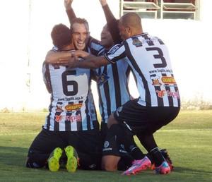 Caxias x Tupi-MG Série C gol Fabrício Soares (Foto: Ricardo Wagner )