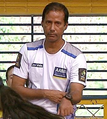 Zé Carlos, técnico de vôlei da AABB-AC (Foto: Reprodução/Rede Amazônica Acre)