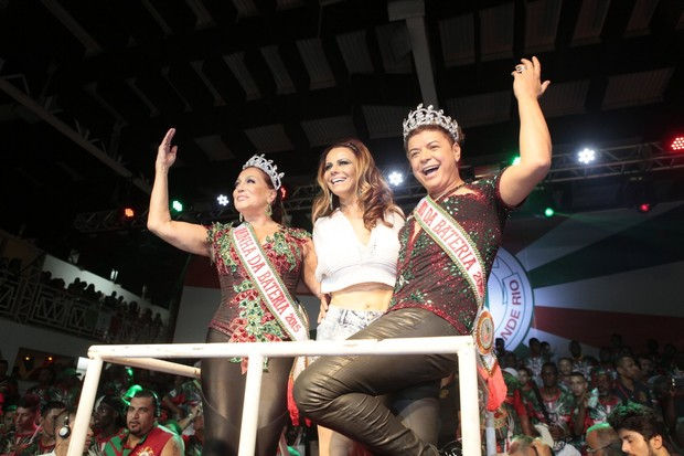 Susana Vieira, David Brazil e Viviane Araújo (Foto: Isac Luz / EGO)