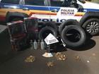 Homens são detidos com mais de 720 munições na MG-255 em Itapagipe