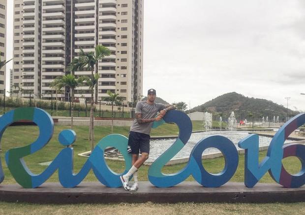 Miles Chamley-Watson na Rio 2016 (Foto: Instagram/Reprodução)
