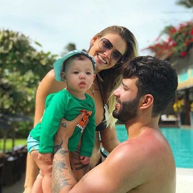 Gusttavo Lima, Andressa Suita e Gabriel  (Foto: Reprodução/Instagram)