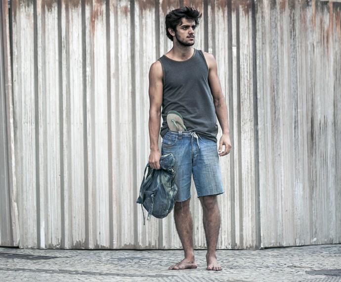 Felipe Simas será o morador de rua Jonatas (Foto: Isabella Pinheiro/ Gshow)