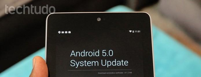 Atualização para Android 5.0 Lollipop pode causar alguns bugs (Foto: TechTudo)