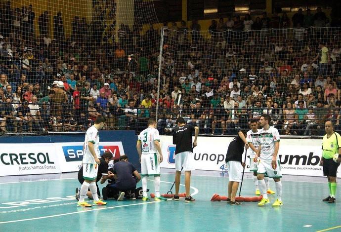 Fabiano Assad Marreco x Corinthians Liga Nacional de Futsal (Foto: Adolfo Pegoraro/Divulgação)